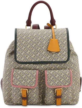 Tory Burch PERRY LOGO JACQUARD CANVAS BACKPACK