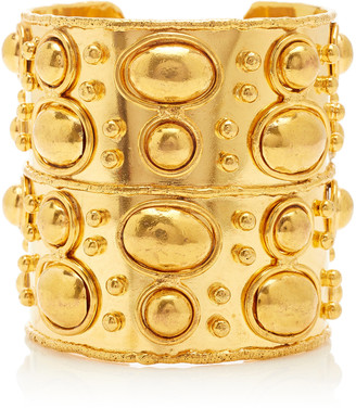 Sylvia Toledano Manchette and Byzance Gold-Plated Wide Cuff