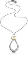 Just Cavalli Icon Silver PVD Drop Chain Necklace