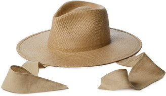 Janessa Leone Francis Packable Straw Fedora