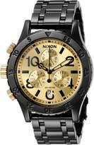 Nixon Women's A404010 38-20 Chrono Analog Display Japanese Quartz Black Watch