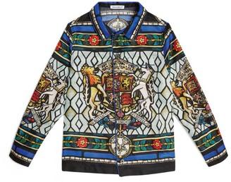 Dolce & Gabbana Kids Royal King Print Silk Shirt (8-12 Years)