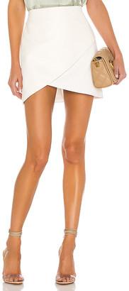 Alice + Olivia Fidela Leather Combo Crossover Skirt
