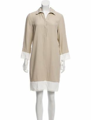Akris Punto Ladder Lace-Trim Dress w/ Tags Beige