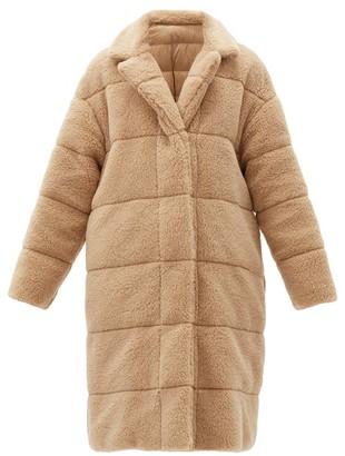 Moncler Bagaud Reversible Quilted-fleece Down Coat - Camel