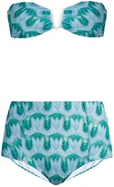 MISSONI MARE Knitted high-waist bandeau bikini