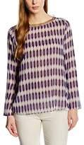 Rene Lezard Women's Loose Fit Blouse - Purple -