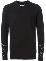 Maison Margiela wavy intarsia sweater