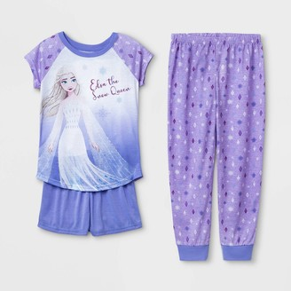 Girls' Disney Frozen 'Elsa the Snow Queen' 3pc Pajama Set -