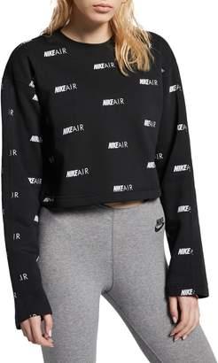 Nike Logo Cotton-Blend Fleece Sweatshirt