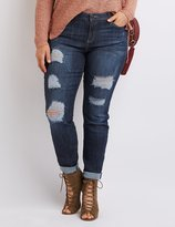 Charlotte Russe Plus Size Cello Destroyed Boyfriend Jeans
