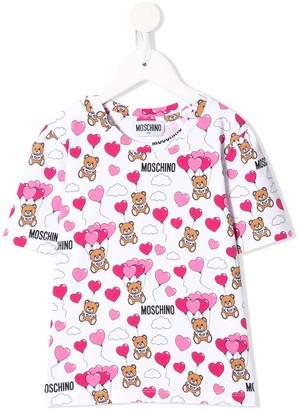 MOSCHINO BAMBINO teddy logo print T-shirt