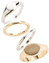 BP Women's Set Of 4 Signet Rings