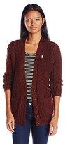 Obey Women's Barnette Chunky Waffle Cardigan Sweater