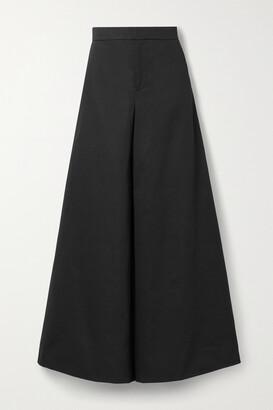 Marni - Cotton And Linen-blend Twill Wide-leg Pants - Black