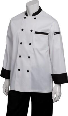 Chef Works Men's Dijon Chef Coat (BBTR) White