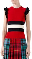 Gucci Knit Wool Top, Red/Black
