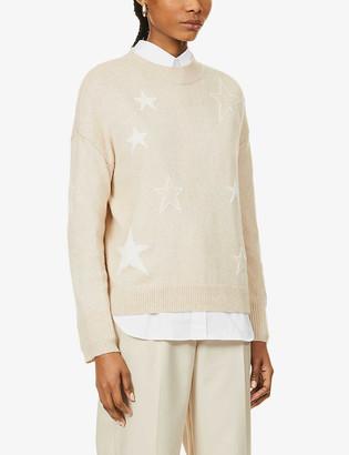Rails Kana star-intarsia stretch-knit jumper