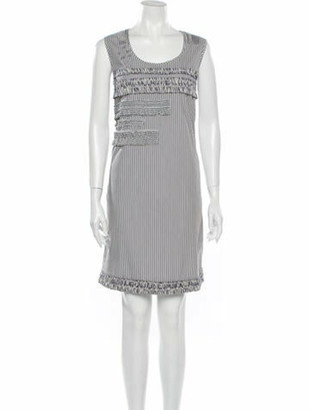 Victoria Beckham Striped Mini Dress Grey