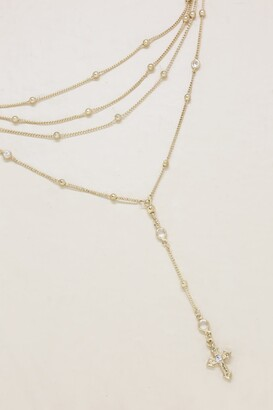 Ettika Gold Cross Lariat Choker