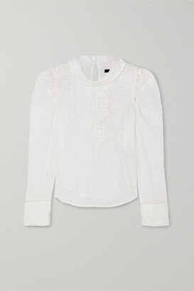 Isabel Marant Qyandi Broderie Anglaise Blouse - White