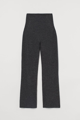 H&M MAMA Ribbed Pants - Black