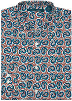Perry Ellis Multicolor Paisley Print Shirt