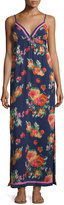Joie Floral-Print Chiffon Maxi Dress, Dark Navy