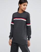 Asos Sweatshirt with Stripe Tipping