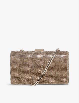 Dune Bryannie crystal-embellished clutch bag