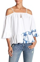 Blank NYC BLANKNYC Time Bomb Cold Shoulder Blouse