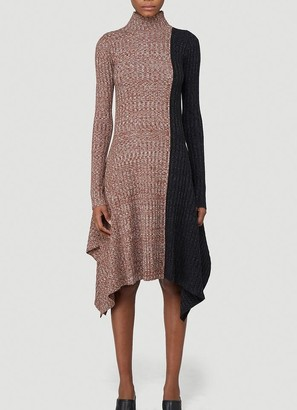 J.W.Anderson Asymmetric Contrast Dress
