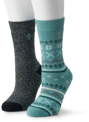 Columbia Women's 2-Pk. Fairisle Thermal Crew Socks