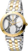 Just Cavalli 34mm Animal Devore Bracelet Watch, Two-Tone