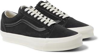 Vans Og Old Skool Lx Leather-Trimmed Suede Sneakers