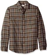 Dockers Long Sleeve Jaspe Plaid Button Front Shirt
