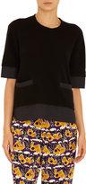 Marni Short Sleeve Cut-Off Back Hem Sweater