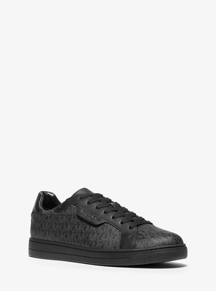 Michael Kors Keating Logo and Leather Sneaker