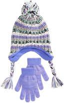 Berkshire 2-Pc. Striped Heidi Hat & Gloves Set, Little Girls & Big Girls