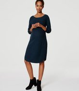 LOFT Petite Maternity Textured Sweater Dress