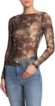Ten Sixty Sherman Floral Mesh Long Sleeve Shirt