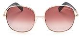 Tom Ford Oversized Square Sunglasses, 58mm
