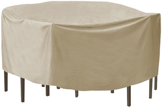 """Protective Covers 92"""" Round Bar Table and Chair Cover - Tan"""