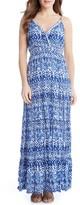 Karen Kane Women's Batik Print Tiered Maxi Dress