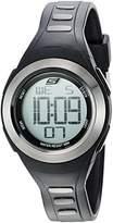 Skechers Wome's 'The Teyso' Quartz Plastic ad Polyurethae Casual Watch, Color:Black (Model: SR2063)