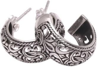 """Novica Artisan Crafted """"Hanging Garden"""" Half Hoop Earrings"""