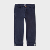 Paul Smith Boys' 7+ Years Navy Stretch-Cotton Chinos