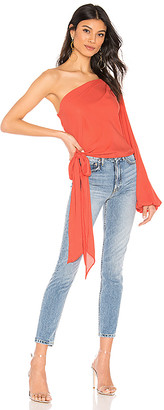 Krisa One Shoulder Tie Top
