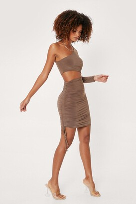 Nasty Gal Womens However You Slice It Cut-Out Dress - Chocolate