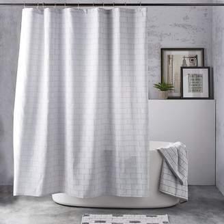 DKNY Subway Tile Shower Curtain